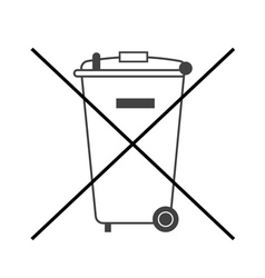 No big trash bin icon vector
