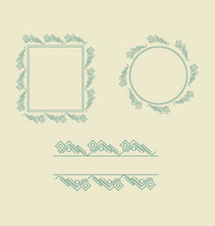 ornament decorative frame collection 01 vector image