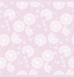 pale color abstract dandelion flowers pattern vector image