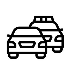 police and criminal car icon outline vector image