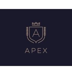 Premium monogram letter A initials ornate vector image