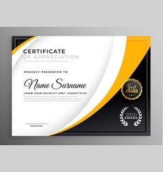 Professional certificate template diploma award vector