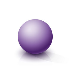 purple sphere vector image
