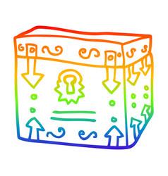 rainbow gradient line drawing cartoon magical vector image