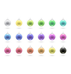 realistic pastel colorful merry christmas ball vector image