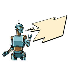 robot cyber monday advertising poster vector image