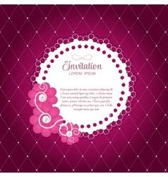 Romantic flower vintage invitation card background vector