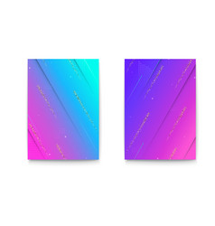 set of covers with geometric colored shapes and vector image