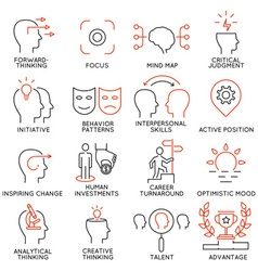 Set of icons related to business management - 37 vector