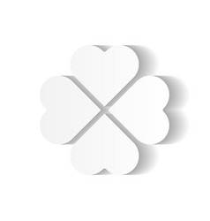 shamrock - white four leaf clover icon good luck vector image