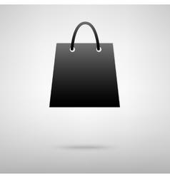 Shopping bag black icon vector
