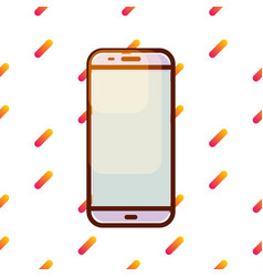 Smartphone icon on gradient memphis pattern vector