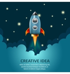Space rocket launch Creative idea business vector image