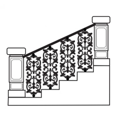Stair railing vector