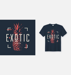 stylish t-shirt and apparel modern design with vector image