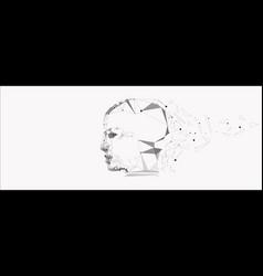 symbol human head vector image