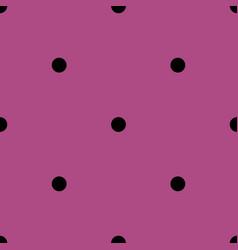 Tile pattern with black polka dots on pink violet vector