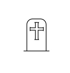 tombstone icon vector image