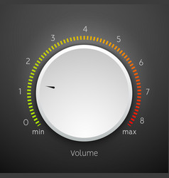 volume music control knob icon panel audio knob vector image