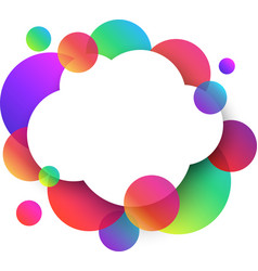 white cloud background with colour circles vector image