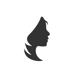 woman silhouette graphic design template vector image