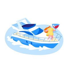 yachting cruise summer aquatic tour concept vector image