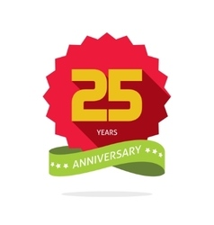 Years 25 anniversary label logo badge vector image