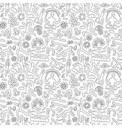 Yoga -seamless pattern vector