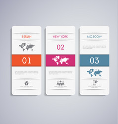 abstract 3d paper infographic vector image vector image