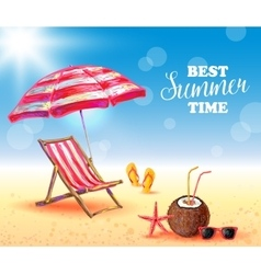Best Summer Time Poster vector image