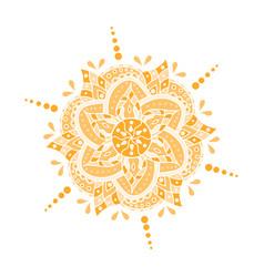 colored hand drawn mandala vector image