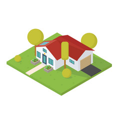 Isometric small house vector