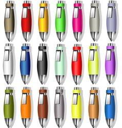 Souvenir Color Pens vector image