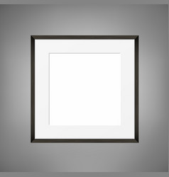 square blank picture frame on grey wall vector image vector image