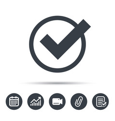 Tick icon check or confirm sign vector