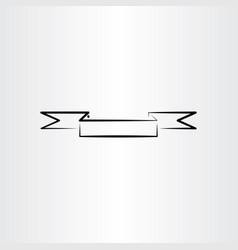 Banner ribbon stylized black design element vector