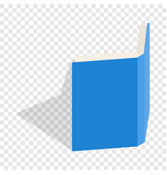 blue open book cover isometric icon vector image