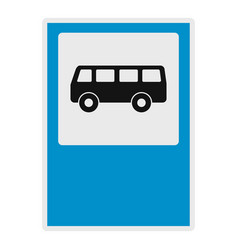 bus stop icon flat style vector image
