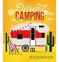 Camping trailer vector