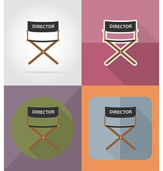 Cinema flat icons 02 vector