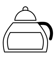 honey tea icon outline style vector image vector image