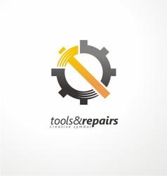 Industrial logo design vector image
