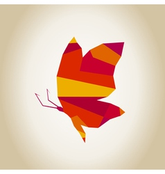 Abstract the butterfly2 vector image vector image