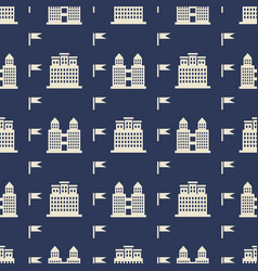 buildngs and flags seamless pattern vector image vector image