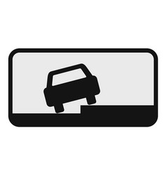 car on the roadside icon flat style vector image