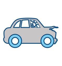 crash car and dangerous automobile accident vector image vector image