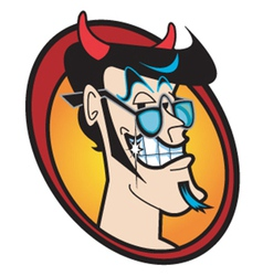 Face of the devil vector