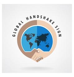 Handshake abstract sign vector image