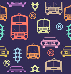 Seamless cars pattern vector