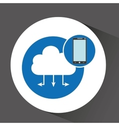 Smartphone programming web cloud vector